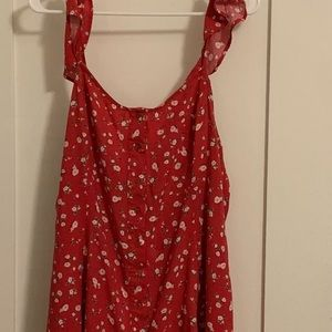 MOSSIMO Red Floral Summer Dress 💐